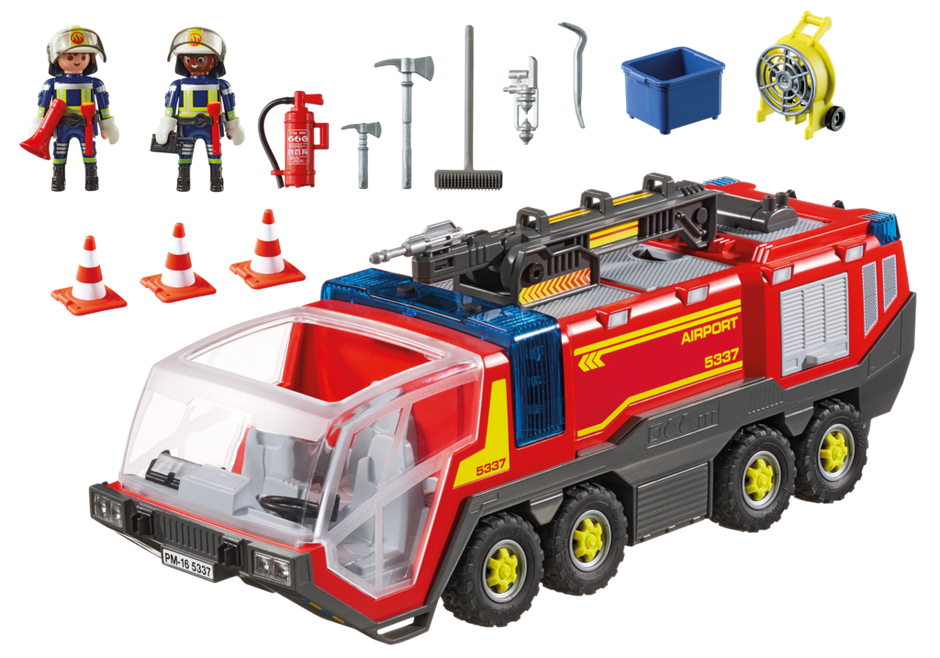 Playmobil 5337 Fire Engine with light sound Camion bomberos  NEW BOXED Worldwide