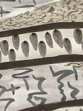 Fabric African Abstract Farm Life Crops Grey & Black Cotton by the 1/4 yard