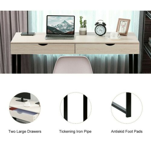 Details about  /Computer Desk Laptop Table Study Writing Workstation Home Office w//2 Drawer USA