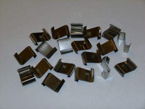 40 Edelstahl Glasträger,Glashalter für Gewächshaus mit Schindelverglasun,NEU.