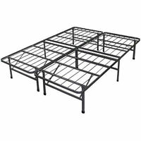Platform Bed Frame Steel Metal No Box Spring Needed Bed Twin Full Queen King