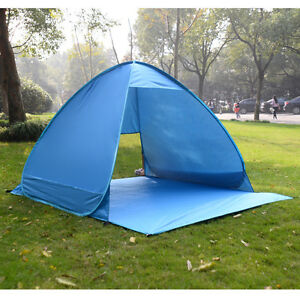 Image is loading Portable-Pop-Up-Beach-Canopy-Sun-Shade-Shelter- & Portable Pop Up Beach Canopy Sun Shade Shelter Outdoor Camping ...