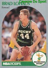 178 BRAD LOHAUS MILWAUKEE BUCKS CARD CARTE BASKETBALL NBA HOOPS 1990