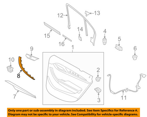 BMW OEM 13-15 X1 Front Door-Handle Cover Right 51412991778