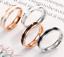 Anello-Uomo-Donna-Acciaio-Inox-Argento-Oro-Fedine-Fedina-Fidanzamento-Fascia miniatura 3