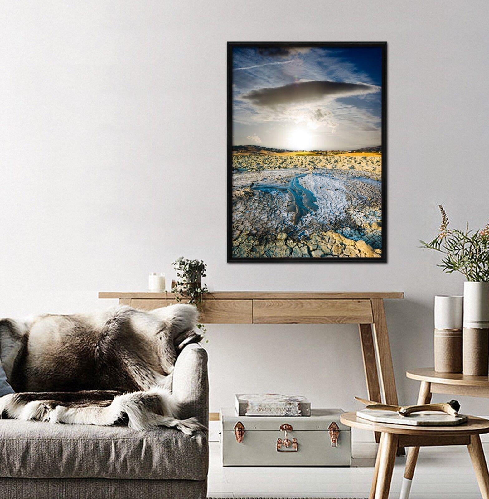 3D Dry Land Sunlight 1 Framed Poster Home Decor Print Painting Art AJ WALLPAPER