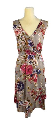 Medium Large Sleeveless Sundress Brown New Blu Pepper Women Dress Flare Small
