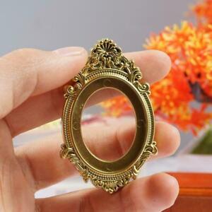 Antique Vintage Gold Plastic Frame Oval for 1:12 doll house frame