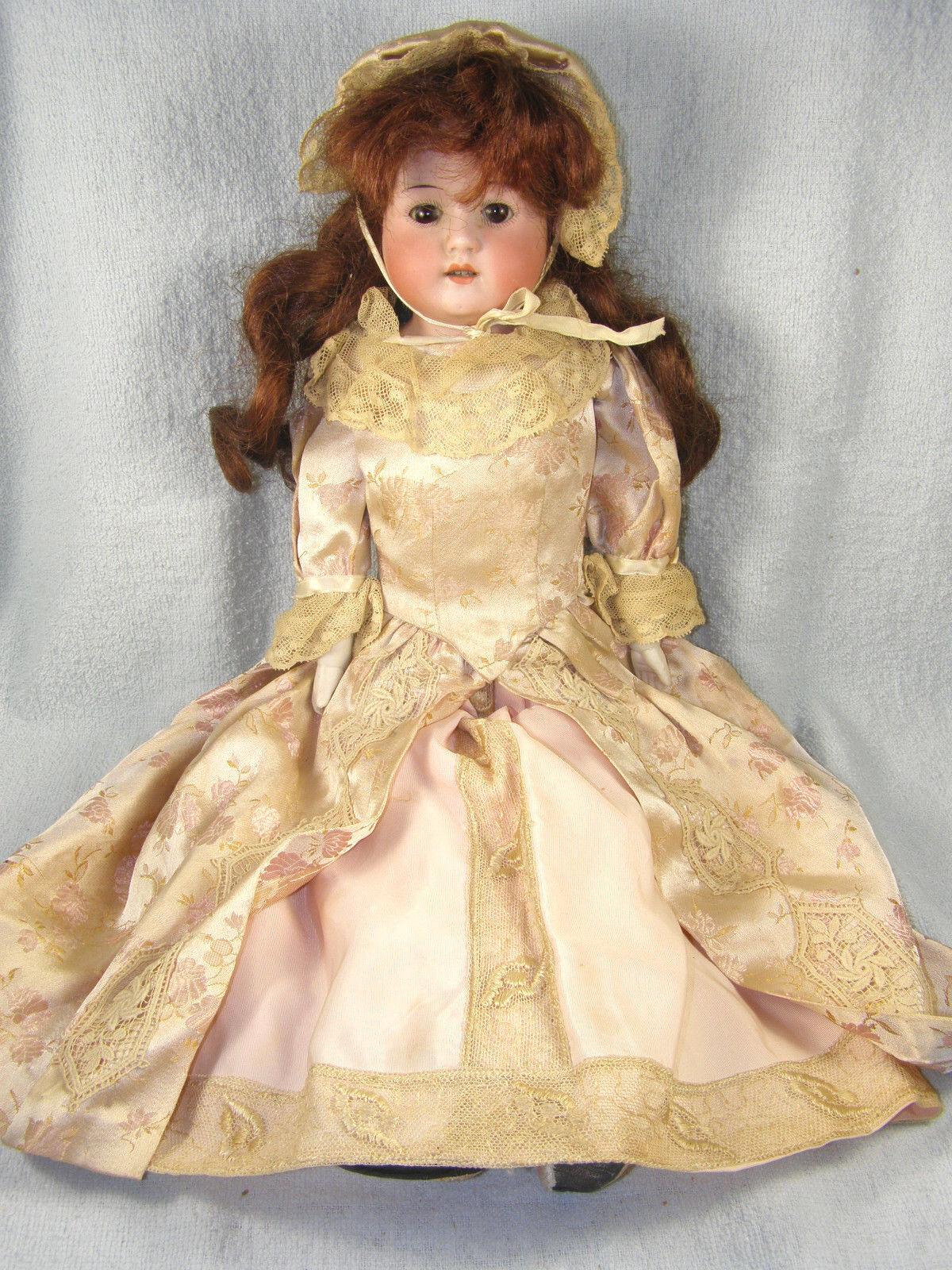 Antiguo Heubach Koppelsdorf Cabeza De Biscuit muñeca de cara Dolly - 18  pelirroja