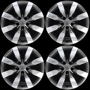 4-Chrome-amp-Black-2009-2018-Corolla-16-034-Hub-Caps-Full-Wheel-Covers-fit-Steel-Rims