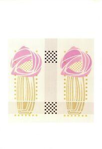 Art-Design-Postcard-detail-of-Stencilled-Wallpaper-Charles-Rennie-Mackintosh-GD5