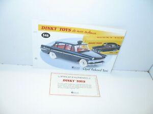 1-fiche-certif-DINKY-TOYS-ATLAS-repro-ref-546-Opel-rekord-taxi