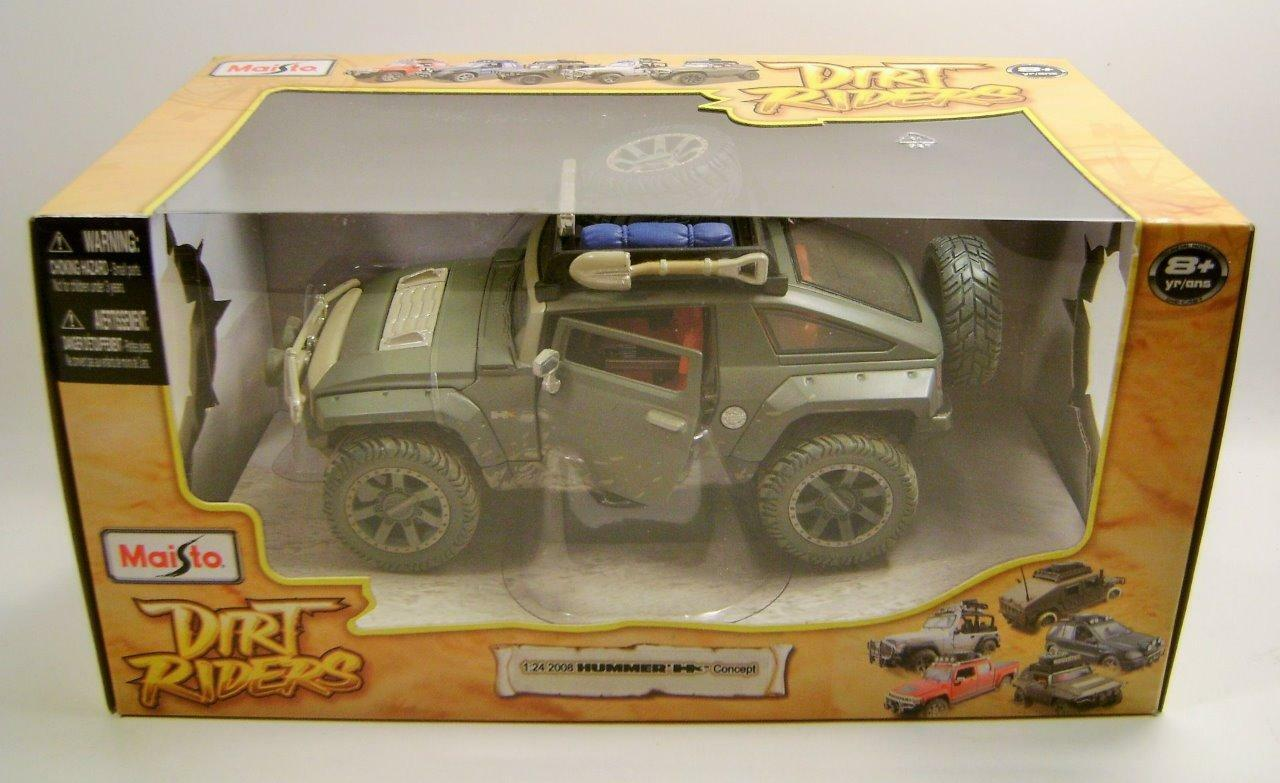 2008 '08 HUMMER HX CONCEPT DIRT RIDERS MAISTO 1 24 SCALE DIECAST VERY RARE