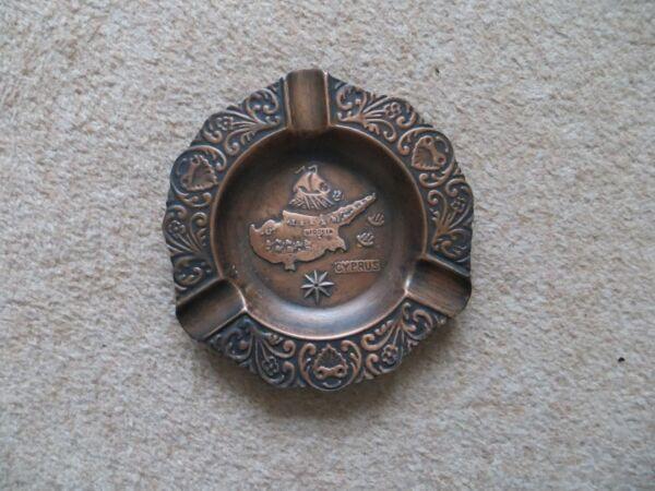 *new* Ornate Cyprus Island Pressed Ashtray