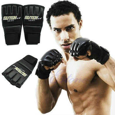 Gym Cool MMA Muay Thai Training Boxing Gloves Punching Bag Half Mitts Sparring