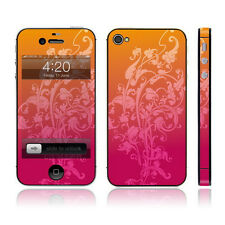 iPhone 4, 4s Decal / Skin / Sticker - Pink Orange Floral