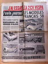 L'AUTO-JOURNAL n°183 du 10/1957; 2 CV Vespa/ Modèles Français 58