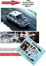 DÉCALS  1/43 réf  1036 Simca Rallye 2 Kitee Marchand Rallye Monte Carlo 1977
