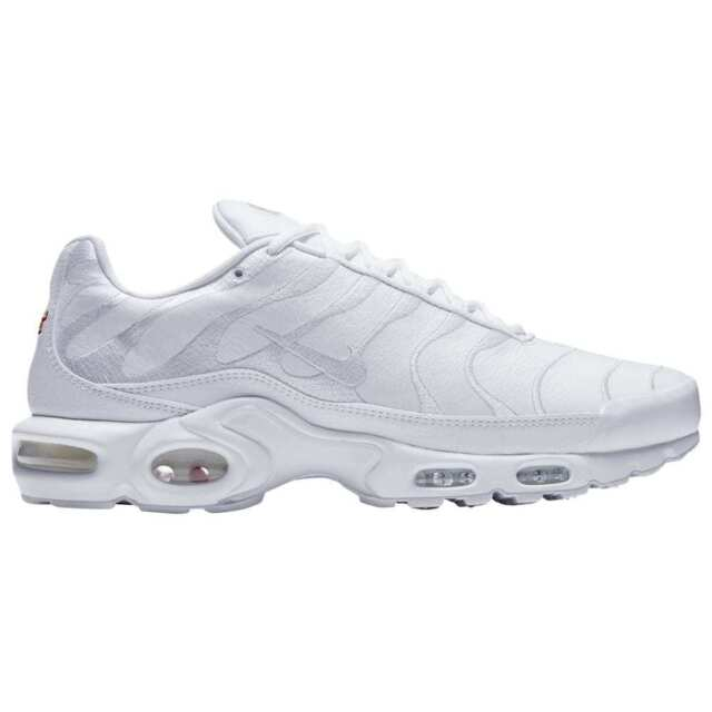 online store 760af 370a4 Nike Air Max Plus Men's (Size 13) TN Tuned 1 Triple White Leather AJ2029-100