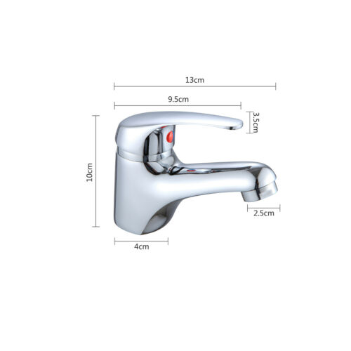 Modern Bathroom Cold and Hot Water Sink Cloakroom Basin Mono Basin Mixer Tap