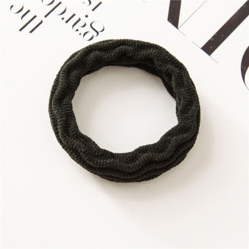 5PCS Women Girls Hair Tie Band Solid Color Ponytail Holder Hair Ring Rope