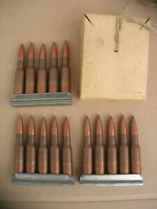 7-62x54-R-Nagant-Deko-Patronen-Ladestreifen-Schachtel-Mosin-M1908-30