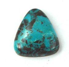 Natural Bisbee Turquoise Black Matrix Tear Drop Cab Cabochon