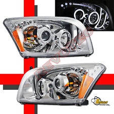 2007-2012 Dodge Caliber SRT SE R/T SXT CCFL Halo LED Projector Headlights Chrome