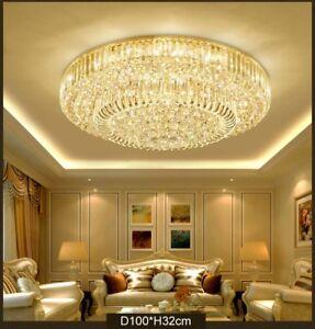 Image Is Loading Led Living Room K9 Crystal Hanging Lamp Chandelier