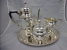 wunderschönes 4 tlg. Kaffee - Service Silber 800 punziert 1370g Lutz & Weiss