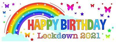 RAINBOW LOCKDOWN PERSONALISED PHOTO BIRTHDAY CARD GIRLS BOYS ANY AGE CHILDREN