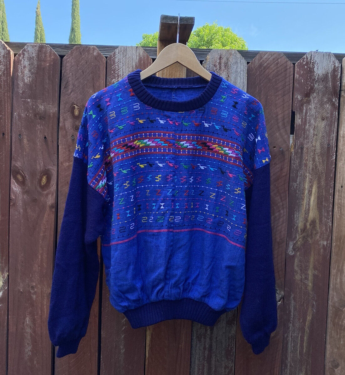 Vintage South American Peruvian Style Handwoven Sweater