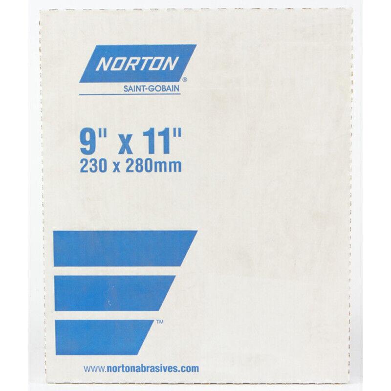 Norton  11 in. L x 9 in. W 120 Grit Medium  Aluminum Oxide  Sandpaper