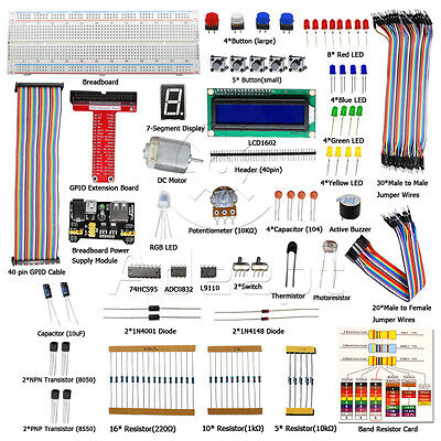 Adeept New Starter Kit for Raspberry Pi 3 2 model B/ B+  Python  LCD1602 LED