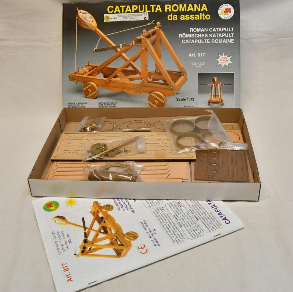 MANTUA MODEL SCALA 1 12 KIT IN LEGNO CATAPULTA ROMANA DA ASSALTO    ART 817