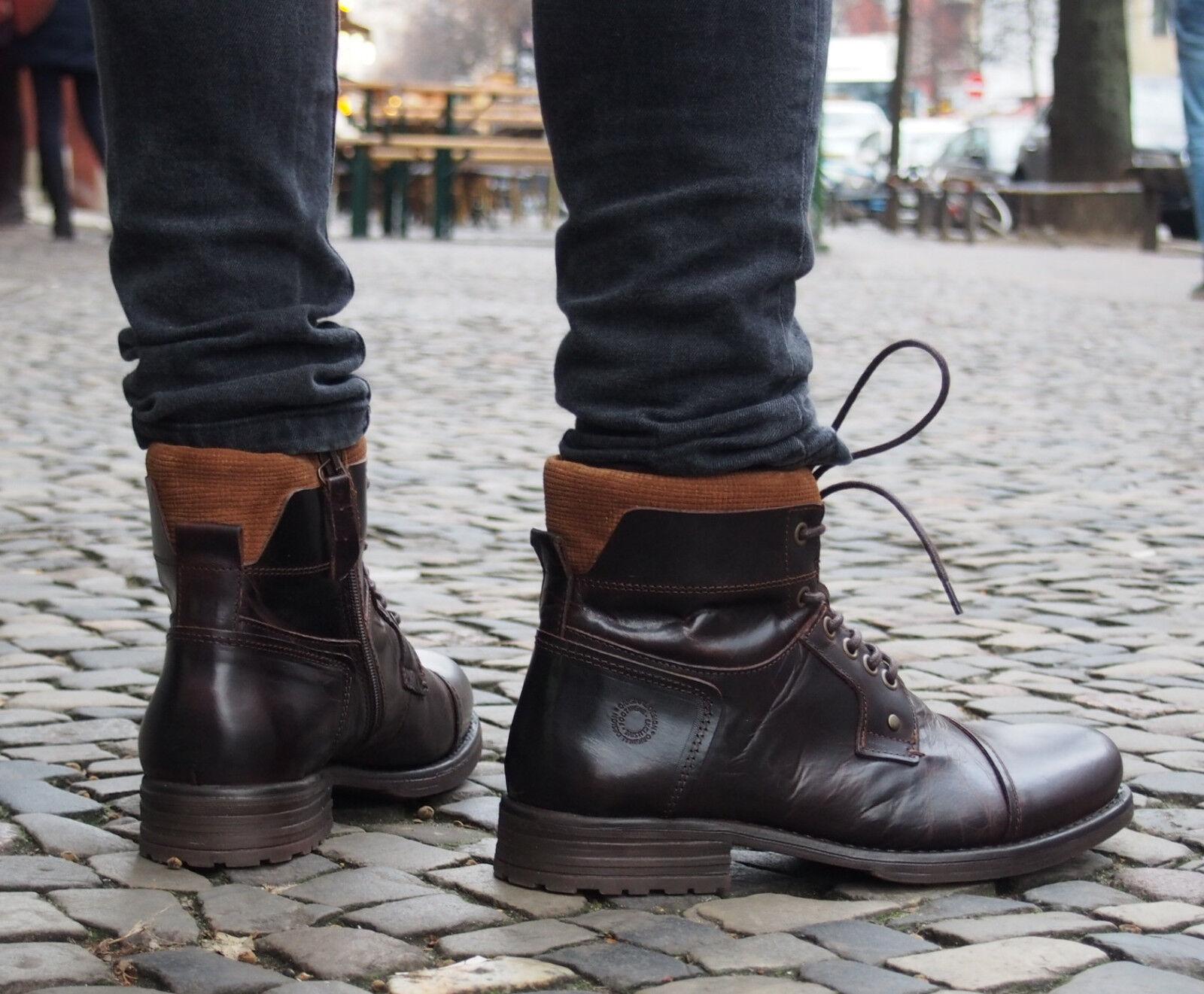 COXX BORBA Schuhe MAGOZ6144 brown braun Herrenschuhe Echtleder Boots Stiefel NEU