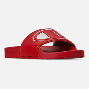 35d55d357 Women s Champion IPO Slide Sandals Red   White Sizes 6-10 New In Box ...