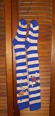 Grungy Primitive Socks Stockings -Blue & White Stripe, Stars,Americana,Patriotic