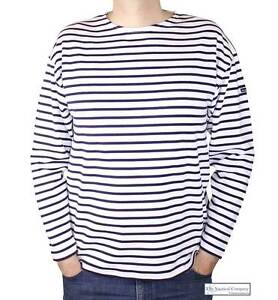 Armor Lux Mens Original Breton Striped T Shirt White Navy