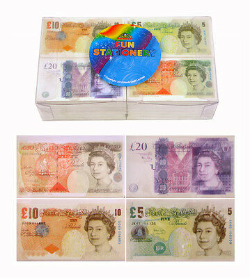 4 Novelty Fun Money Eraser Rubber School Children £ 5 10 20 50 Party Bag Filler