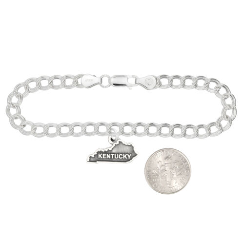 with Options LGU® Sterling Silver Oxidized Kentucky Charm