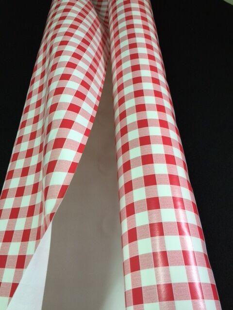 Au 20 metres Nappe PVC carreaux VICHY ROUGE largeur 140 cm toile ciree  vinyle