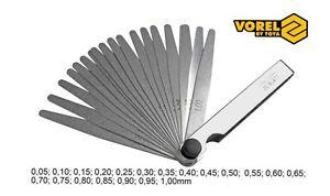 20-tlg-20-Blatt-Fuehlerlehre-VOREL-Abstandslehre-0-05mm-1-0mm-Konisch-Spaltmass