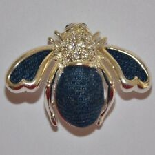 JOAN RIVERS - SILVER TONE DENIM BEE PIN BROOCH - RARE - MINT CONDITION