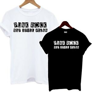 Punk-Rock-But-Still-Vegan-T-Shirt-Rock-n-Roll-Feminist-Tee-Goth-Emo-Clothing-Top