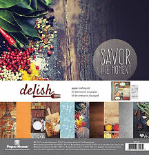 Paper House DELISH Scrapbooking Kit-12x12 papers & stickers COOK BAKE