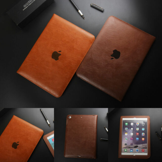 Genuine Leather Slim Stand Folios Cover Case For iPad 234 Mini Pro 12.9'' 9.7