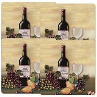 Gas Stove Burner Covers Set Of 4 Wine & Vines Grapes 9 Decorative Plate Square