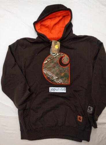 Carhartt Rain Defender Avondale Mdwght Applique C Sweatshirt RM1-2275 Dk Brown