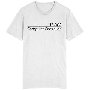 Roland TB-303 contrôlé par ordinateur Bass Line synthétiseur T Shirt Top Rétro Geek